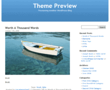 wordpress sablona 2005 default