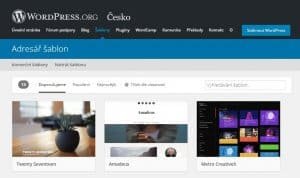 navod instalace stranek na WordPress - repositar sablon