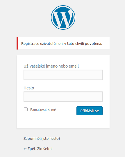 wordpress-registrace-uzivatelu-zakazana