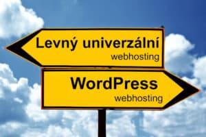univerzální webhosting wordpress webhosting