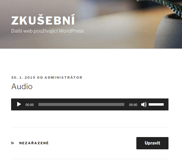 wordpress-audio-soubor-prehravani-v-clanku