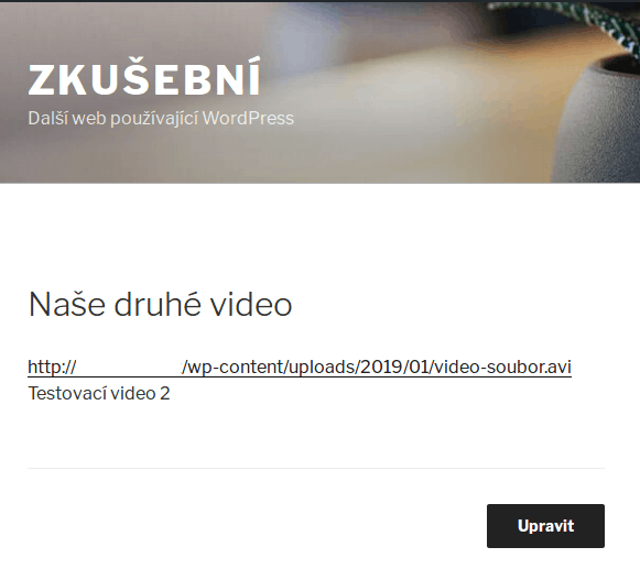 wordpress-media-video-odkaz