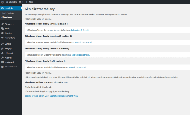 wordpress-administrace-uspesne-atualizovane-sablony-ze-stranky-prehled-aktualizaci