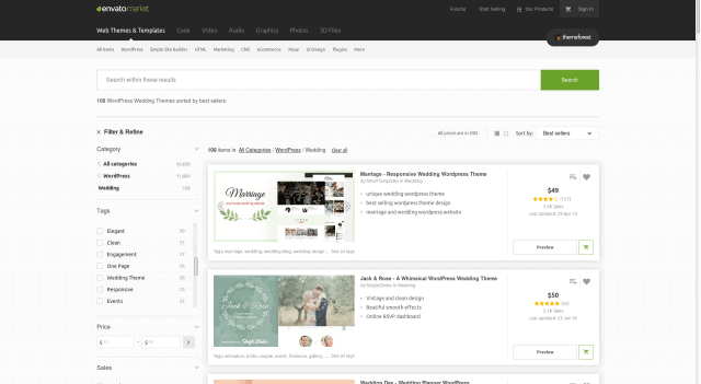wordpress-premium-sablony-themeforest-vypis-kategorie-filtrovani