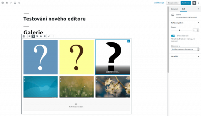 wordpress_prispevek_blokovy_editor_gutenberg_blok_galerie