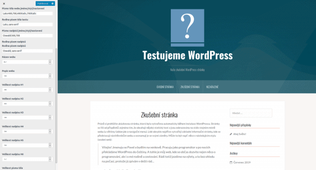 wordpress-sablona-oria-písma