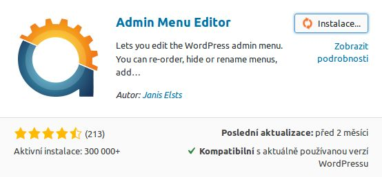 wordpress plugin Admin menu editor