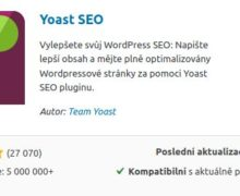 Yeast SEO plugin - instalace