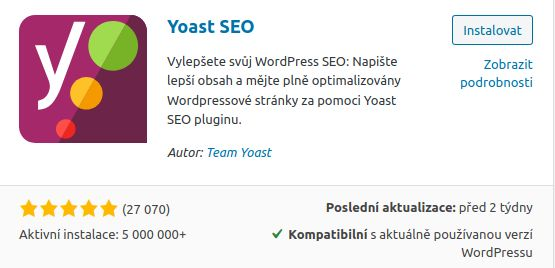 Yeast SEO plugin - instalace