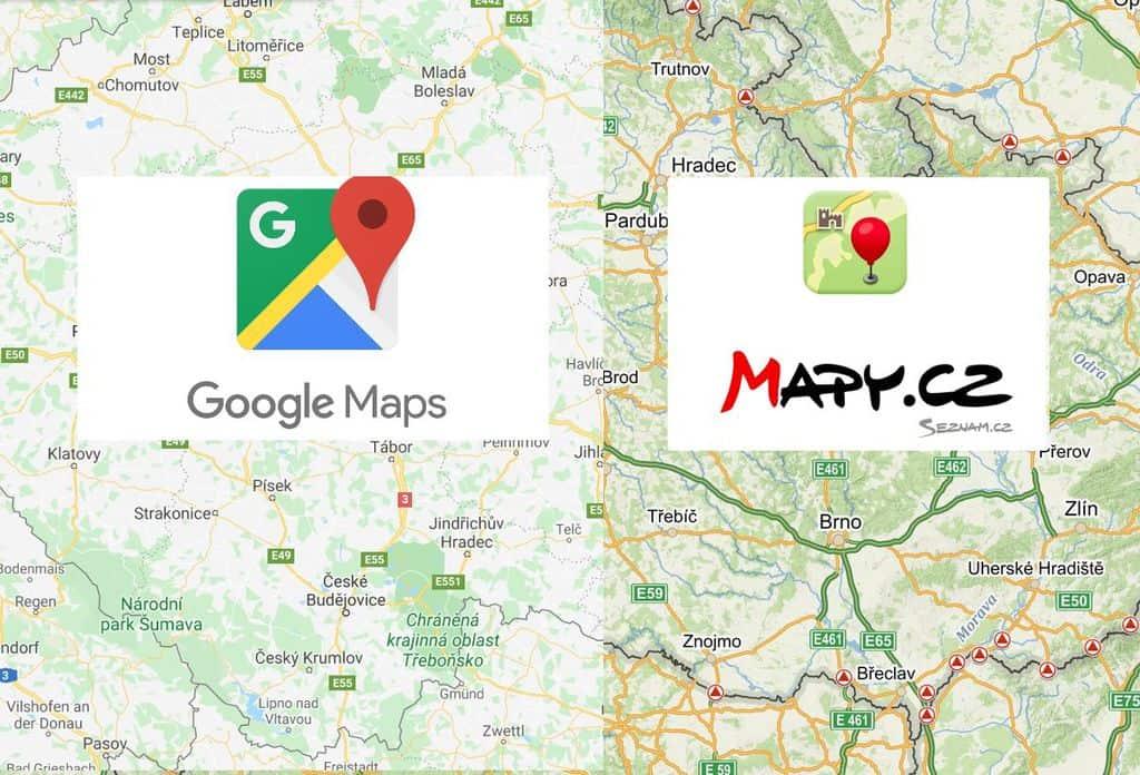 Mapy.cz a Google mapy - na stránky nebo do článku