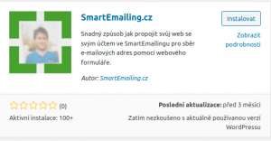 Plugin SmartEmailing.cz pro WordPress