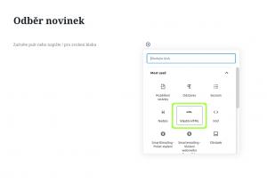 SmartEmailing vložení formuláře do WordPress