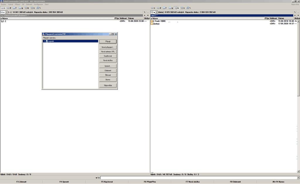 Práce s FTP - TotalCommander
