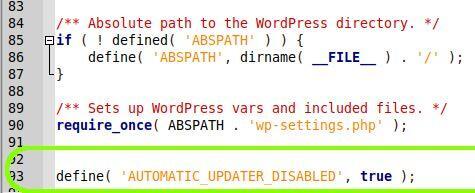 Jak zakázat automatické aktualizae WordPress