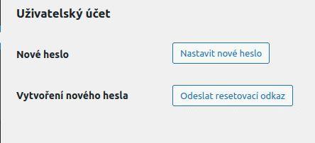WordPress - reset hesla jiného uživatele
